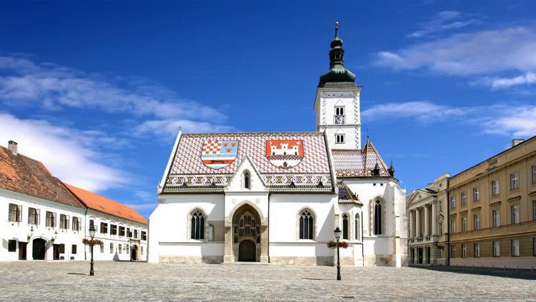 La Chiesa di San Marco nel centro storico di Zagabria.