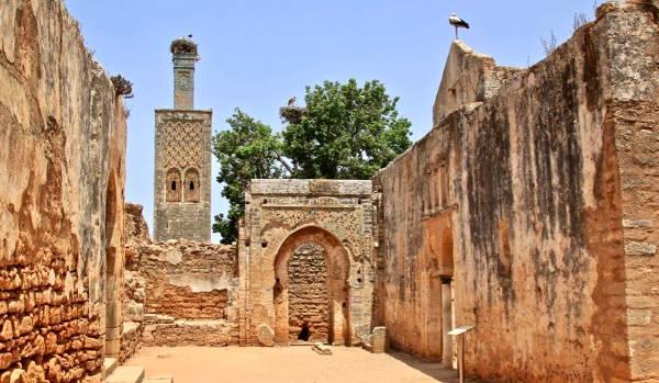 La cittadella di Chellah vicino Rabat.