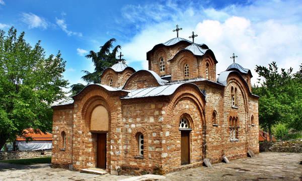 La chiesa di San Panteleimon di Nerezi, vicino la capitale macedone Skopje.