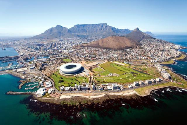 Città del Capo in Sudafrica.