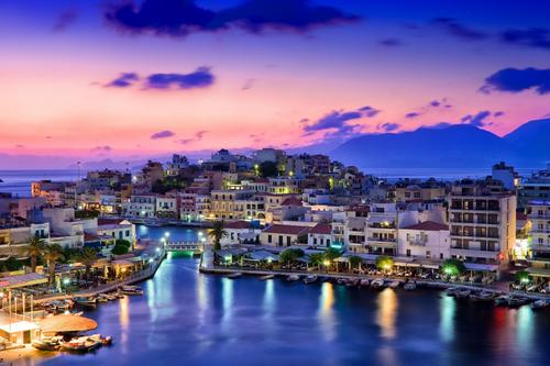 Creta in Grecia, la bellissima Agios Nikolaos.