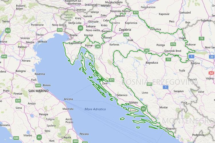 La Croazia sulla Mappa, cartina della Croazia.