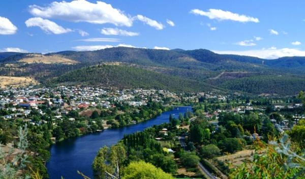La Denwert Valley a nord di Hobart.