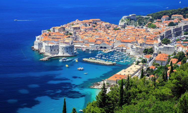 Dubrovnik in Croazia.