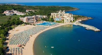 Una spiaggia in Bulgaria, sul Mar Nero.