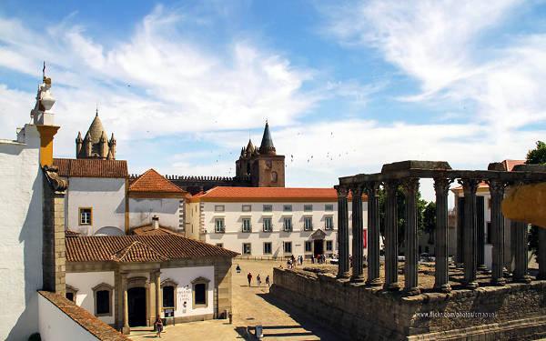 Evora in Portogallo, nella regione dell'Alentejo.