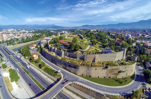 La fortezza Kale a Skopje.