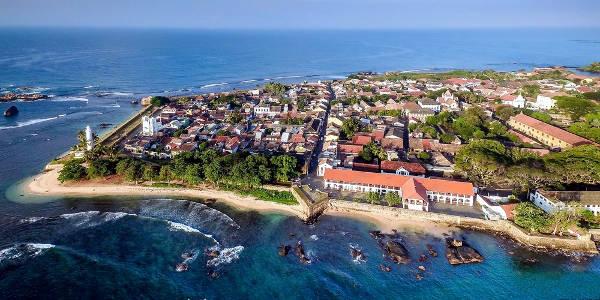 La città costiera di Galle in Sri Lanka.