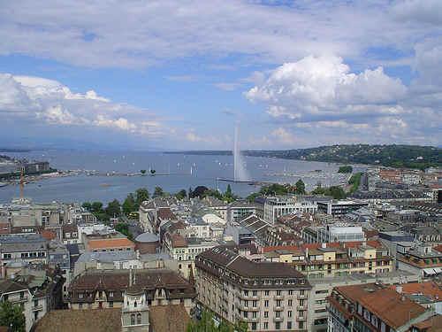 Vista di Ginevra, in Svizzera.
