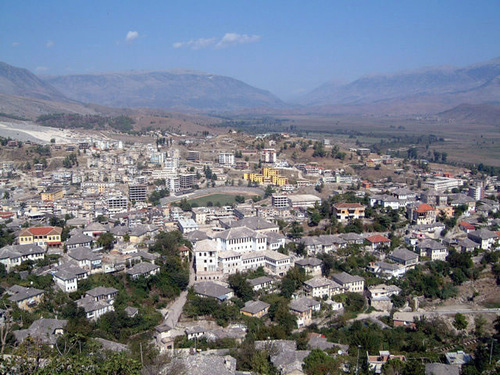 Veduta di Gjirokaster, in Albania.