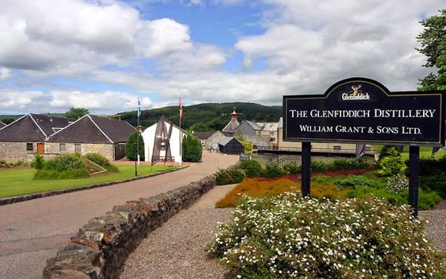 Le distillerie Glenfiddich che si possono visitare vicino Aberdeen.