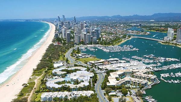 La Gold Coast australiana nel Queensland.