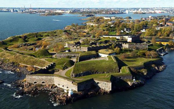 La fortezza di Suomenlinna a Helsinki.