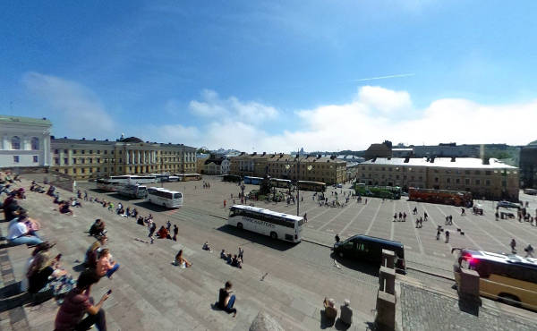 Piazza del Senato a Helsinki.
