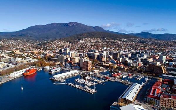 Hobart, capitale della Tasmania.