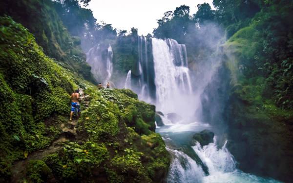 Le cascate Pulhapanzak in Honduras.