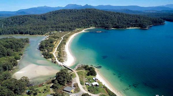 Fantastico Paesaggio nella Huon Valley in Tasmania.