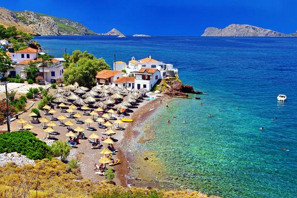 Spiaggia a Hydra, Grecia.