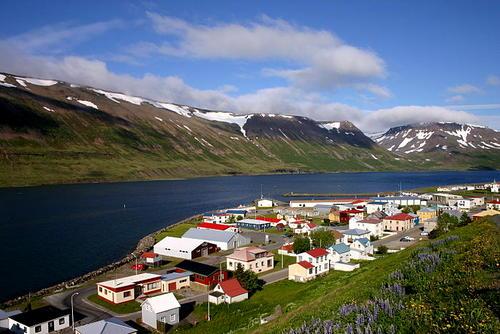 Sudureyri in Islanda.