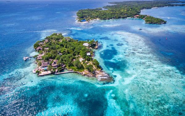 Le isole Rosario in colombia vicino Cartagena.
