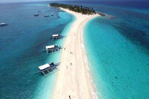 La spiaggia sull'isola di Kalanggaman, nelle Filippine.