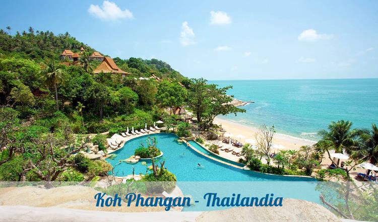 Un resort sull'isola tailandese di Koh Phangan.