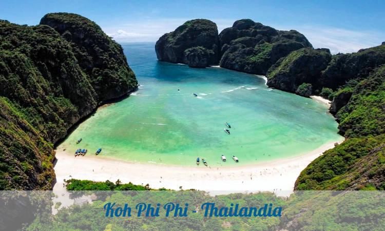 Maya Beach, la spiaggia più fotografata in thailandia su Koh Phi Phi.