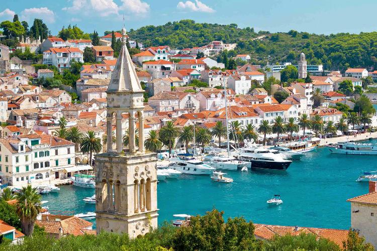 Vacanze in Croazia, vista di Korcula.