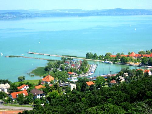 Fonyod sul Lago Balaton, in Ungheria.