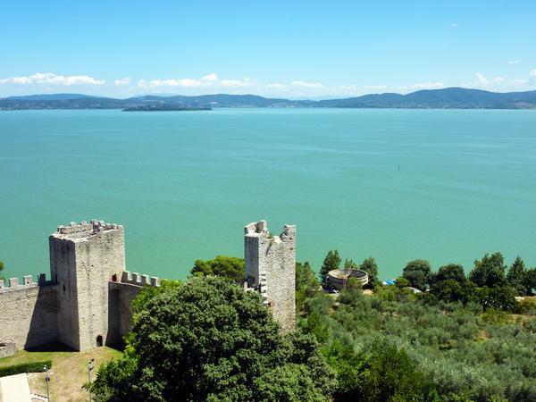 Vista sul Lago Trasimeno.