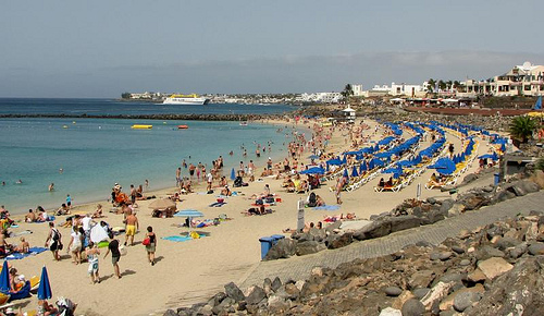 Spiaggia a Lanzarote