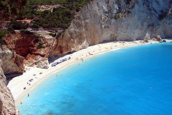 Spiaggia di Porto Katsiki a Lefkada, Grecia.