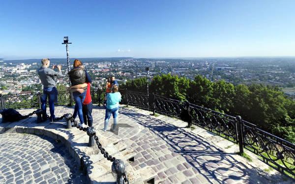 Leopoli, panorama dall'antico castello della città ucraina.