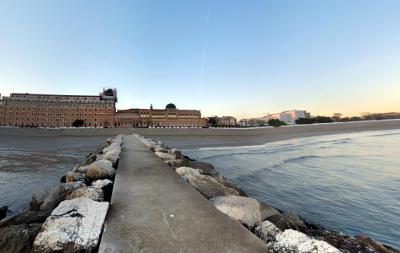 spiaggia del lido di Venezia.
