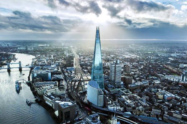 Il grattacielo The Shard da vedere assolutamente è il più alto di Londra.