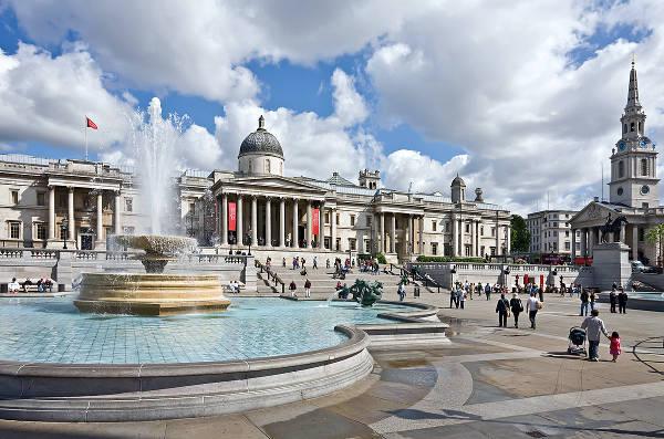 Trafalgar Square, il centro di Londra.