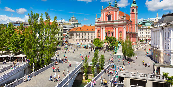 Lubiana in Slovenia.