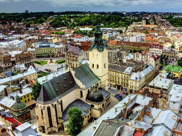 Lviv in Ucraina.