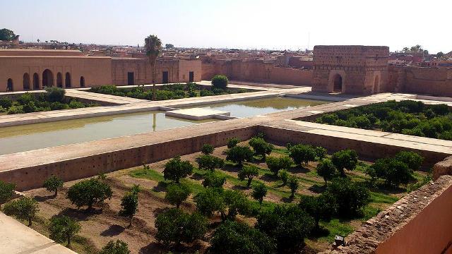 Palazzo El Badi a Marrakech in Marocco.