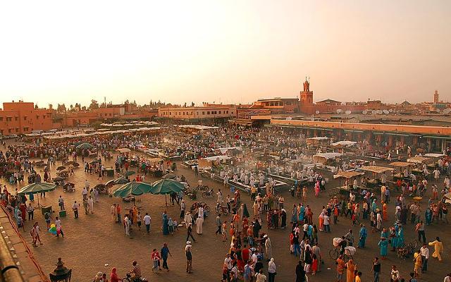 La piazza Jemaa el Fna a Marrakech.