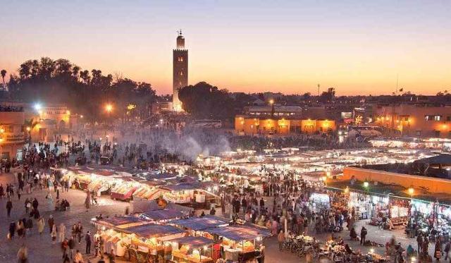 Marrakech in Marocco, la medina.