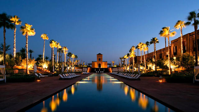 Hotel a Marrakech in Marocco.