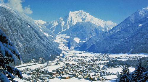 Vista di Mayrhofen, in Austria.