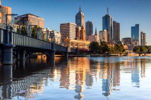 La bellissima città di Melbourne in Australia.