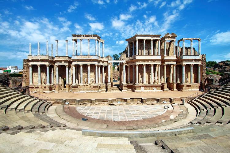 Il teatro romano di Merida da vedere in Spagna.