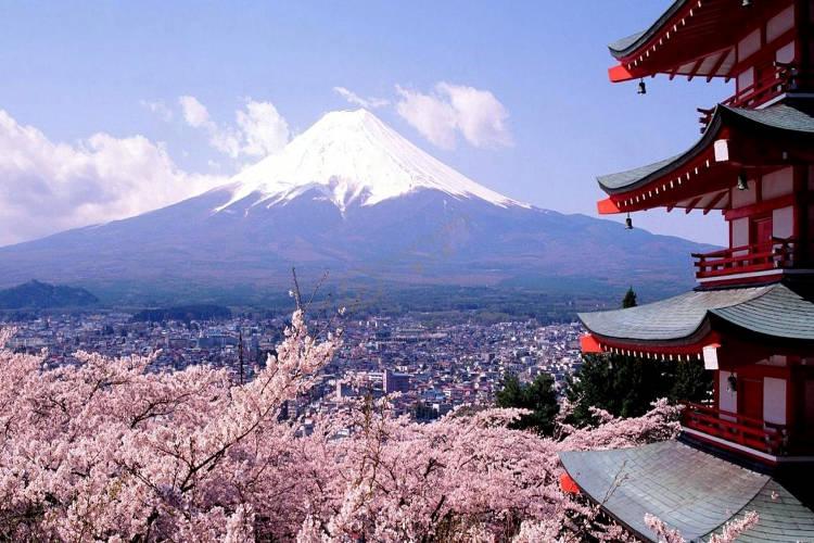 Il Monte Fuji, una dei luoghi più importanti del Giappone.