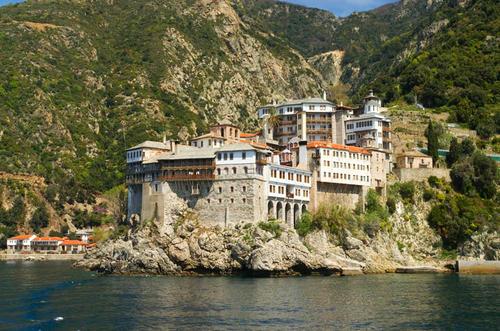 Monte Athos in Grecia.