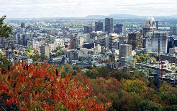 Montreal vista da Mount Royal.