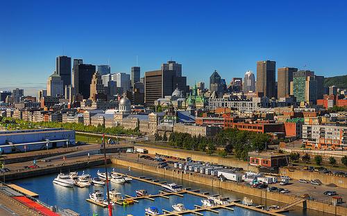 La bellissima città di Montreal in Canada, Quebec.