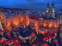 Viaggio di Natale. Mercatino natalizio a Praga.